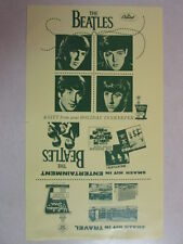 BEATLES 1964 VINTAGE REPRODUCTION (NOT ORIGINAL) HOLIDAY INN BI-FOLD PROMO FLYER