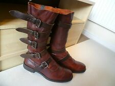 Vivienne Westwood RARE Homme Pirate Boot UK 44 10 Mi-Mollet Boucle Sangle
