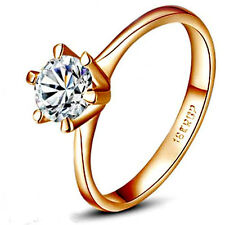18K Rose Gold GP AAA CZ Zircon Crystal Lady Tail Ring band Ring Wedding Ring