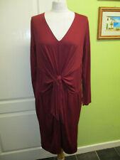d3b99cc9b64 per Una Size 18 Ladies Burgundy Berry Jersey Stretch Dress