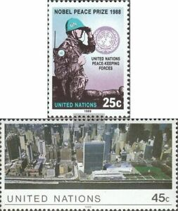 UN - New York 573-574 (complete issue) fine used / cancelled 1989 peacekeepers