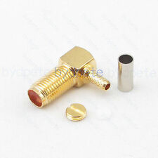 SMA jack right angleConnector female pin crimp for RG174 RG179 RG316 RG188 Cable