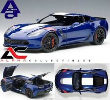 AUTOART 71275 1:18 CHEVROLET CORVETTE GRAND SPORT ADMIRAL BLUE WHITE/RED STRIPES