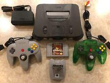 Nintendo N64 Console w/Pokemon Stadium w/2 Controllers w/Gamecube Style Joystick