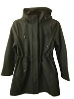 NEW Kenneth Cole Reaction Women's Hooded Softshell Anorak Jacket Large, Olive