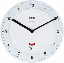 Braun British Segnale Radio Controllato Orologio Da Parete Bianco-BNC 006 WHWH-MSF