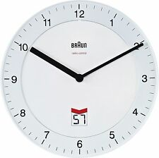 Braun British Signal Radio Controlled Wall Clock White - BNC006WHWH-MSF