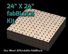 CertiFlat FB2424 2'X2' FabBlock Welding Table Top Kit. Modular Welding Table DIY