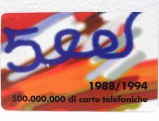 SCHEDA G 380 - 500 MILIONI DI CARTE - LIRE 5.000 - sc. 30/06/96 - MAN