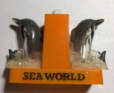 Sea World Dolphin Vintage Plastic Collectible Salt And Pepper Shakers