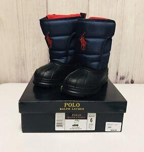 Polo Ralph Lauren Toddler Size 6 Navy Red Hamilten ll EZ Snow Boots