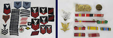 Large Collection U.S. Navy Submarine Rank Patches Badges Ribbons Etc. yqz