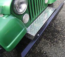 Jeep CJ5 - CJ7 - CJ8 Scrambler Diamond Plate Front Frame Cover Looks Great! :)