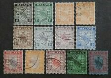 Malaya 1935 Negri Sembilan Loose Set Up To $1 - 13v Used