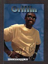 1996  SCOREBOOK SIZZLER  Alfredo Griffin BLUE JAYS  4-3/4 x 6-3/4  PHOTO CARD #1
