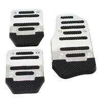 3x/Set Non-slip Car Auto Aluminium Foot Treadle Silver Pedals Cover Pad UK/Lefan