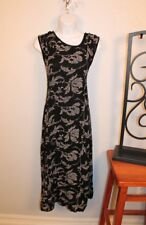 WOMENS LOVELY SLEEVELESS BLACK W/WHITE FLORAL DRESS by PARADISE SIZE MEDIUM