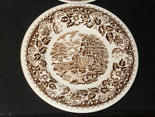 Barratts Staffordshire England ELIZABETHAN BROWN Bread Plate (loc-sau71)