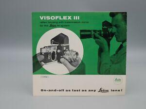 """Original 1954 """"LEITZ VISOFLEX III"""" Brochure"""