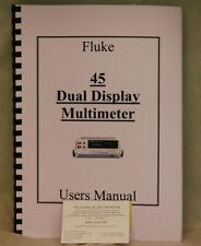 Fluke 45 Dual Display Multimeter User's Manual Photocopy