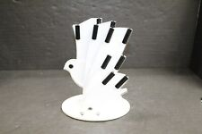 Mcm White Black Lucite Acrylic Movable Sculptured Pigeon Bird Knife Holder Eames