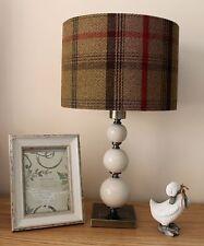 PORTER & STONE HUNTER GREEN TARTAN FABRIC LAMPSHADE / LIGHTSHADE 30CM HANDMADE
