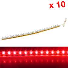 10x Red Flexible Strip Light 24CM 9.4' Waterproof 24 Great Wall LED M001