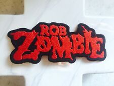 Zombie Red Writing Band Singer Iron On Patches Patch