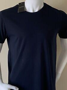 ARMANI 'SMALL EAGLE' LOGO T-SHIRT -  NEW FOR 21' - NAVY  - XLARGE (44') -  £££%%