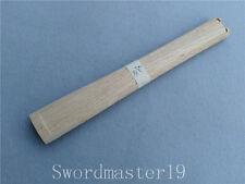 "11"" Hourglass Rikko Shape Strong Oak Tsuka Ray Skin Groove Japanese Katana Sword"
