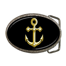 GOLD ANCHOR SHIP BOAT ANCHOR COOL RETRO BELT BUCKLE - GREAT GIFT ITEM