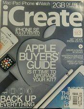 iCreate UK Issue 159 Apple Buyer's Guide Mac iPad iPhone Watch FREE SHIPPING sb