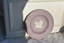 Wedgwood Cream Color On Lilac Jasperware 3 Slot Ashtray Excellent Masked Cherub
