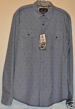 G1094-DRILL CLOTHING CO. BLUE & WHITE CHECK BUTTON FRONT~ L/S SHIRT ~ SZ M ~ NWT