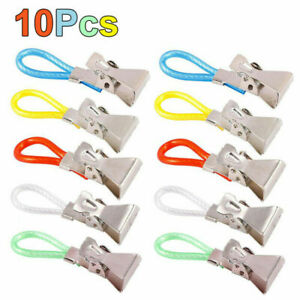 10 X Towel Hanging Clips Hooks Dish Cloth Tea Hand Hangers Kitchen Cafe