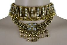Sexy Women Antique Gold Metal Chain Bohemian Fashion Jewelry Set Choker Necklace