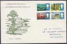 1966 British Landscapes scarce Holmes Tolley FDC; Bradford Yorkshire FDI