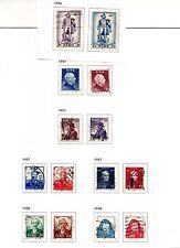 Ireland - Commemorative used postage stamp sets 1956-1959
