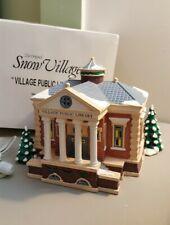 Dept 56 Original Snow Village Series 1993 Village Public Library 54437 Retired