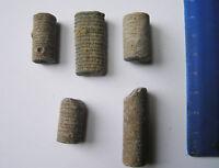 Bag of 5 Fossil Crinoid Stems - Morocco -