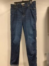 """Madewell 10"""" High Rise Skinny Jean in Hayes Wash Size 31"""