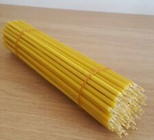 30 pcs -100% pure beeswax church candles 9.5 INCH