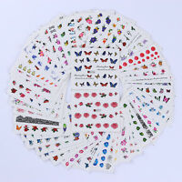 50 Sheets Nail Art 3D Water Decals  Decor Colorful Transfer Stickers DIY