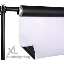 2m x 3m High/Low Key DUO Photo Background Vinyl  (White+Black) + Support Stand