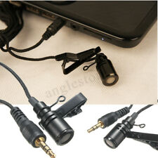 Lavalier Lapel 3.5mm Tie Clip On Microphone Omnidirectional For Phone Computer