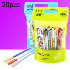 KE_ 20Pcs 0.35mm Cute Animal Black Blue Ink Magic Erasable Gel Pen School Stat