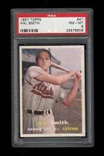 1957 Topps BB Card # 41 Hal Smith Kansas City Athletics PSA NM-MT 8 !!!