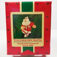 1986 Hallmark Ornament Touchdown Santa Football