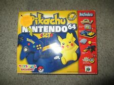 Nintendo 64 Pokemon Edition Blue & Yellow Console Pikachu NEW #41 N64 System