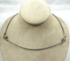 """Barbara Bixby 18Kt Gold & Sterling 20"""" Double Station Necklace"""